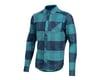 Pearl Izumi Rove Long Sleeve Shirt (Navy/Hydro Plaid) (2XL)