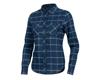 Pearl Izumi Women's Rove Long Sleeve Shirt (Navy/Aquifer Plaid) (M)
