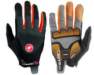 Castelli Arenberg Gel Long Finger Gloves (Dark Grey/Orange) | product-related