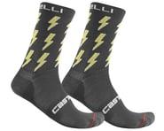 Castelli Men's Pazzo 18 Socks (Dark Grey/Yellow) | product-related