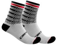 Castelli Avanti 12 Sock (Black/White) | product-also-purchased