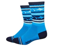 """DeFeet Aireator 6"""" Socks (Blue/White) 