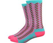 "DeFeet Aireator 6"" Barnstormer Vibe Socks (Neptune/Flamingo Pink) | product-related"