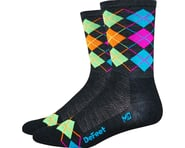 DeFeet Wooleator Hi-Top Sock (Argyle Charcoal/Orange/Blue/Green/Pink) | product-related