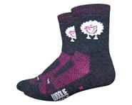 "DeFeet Woolie Boolie 4"" Baaad Sheep Sock (Charcoal/Neon Pink) | product-related"
