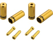 Jagwire End Cap Hop-Up Kit 4.5mm Shift and 5mm Brake (Gold) | product-also-purchased