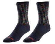 Pearl Izumi Merino Wool Tall Socks (Navy Dash) | product-related