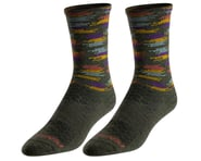 Pearl Izumi Merino Wool Tall Socks (Forest Upland Dash) | product-related