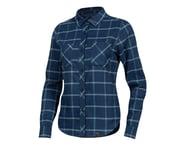 Pearl Izumi Women's Rove Long Sleeve Shirt (Navy/Aquifer Plaid) | product-related