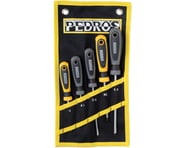 Pedro's Screwdriver Set 5-Piece Bicycle Screwdriver Set With Pouch: Black/Yellow | product-related