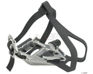 """Wellgo LU-961 Pedals/Toe Clip Combo (Silver) (Aluminum) (9/16"""") 