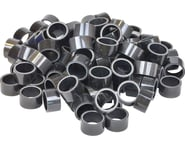 """Wheels Manufacturing 1-1/8"""" Carbon Headset Spacers (Black) (100) 