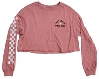 Fasthouse Inc. Star Long Sleeve Women's Crop Tee (Heather Mauve)