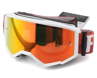 Fly Racing Zone Goggle (White/Red) (Red Mirror Brown Lens)