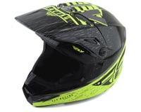 Fly Racing Kinetic K120 Youth Helmet (Hi-Vis/Grey/Black)