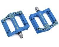 Forte Transfer Platform Flat Pedals (Blue)