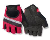 Giro SIV Retro Short Finger Bike Gloves (Red/White Stripe)