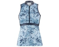 Louis Garneau Women's Art Factory Sleeveless Zircon Jersey (Blue)