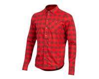 Pearl Izumi Rove Long Sleeve Shirt (Torch Red/Russet Plaid)