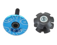 """Shimano Gap Cap & Star Nut for Alloy Steerers (Blue Anodized) (1-1/8"""")"""