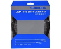 Shimano MTB Stainless Derailleur Cable and Housing Set (Black)