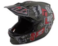 Troy Lee Designs D3 Fiberlite Full Face Helmet (Anarchy Olive)