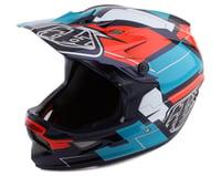 Troy Lee Designs D3 Fiberlite Full Face Helmet (Vertigo Blue/Red)