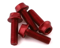 Wolf Tooth Components Aluminum Bottle Cage Bolts (Red) (4-Pack)