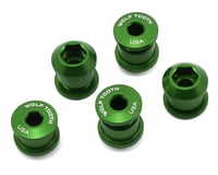 Wolf Tooth Components Dual Hex Fitting Chainring Bolts (Green) (6mm) (5)