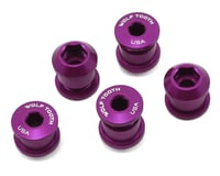 Wolf Tooth Components Dual Hex Fitting Chainring Bolts (Purple) (6mm) (5)