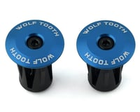 Wolf Tooth Components Alloy Bar End Plugs (Blue)