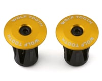 Wolf Tooth Components Alloy Bar End Plugs (Gold)