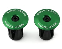 Wolf Tooth Components Alloy Bar End Plugs (Green)