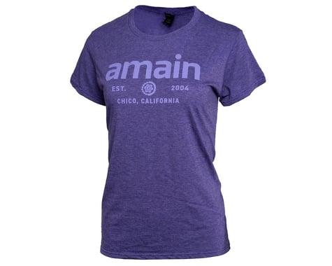 AMain Ladies Short Sleeve T-Shirt V2 (Purple Rush) (S)