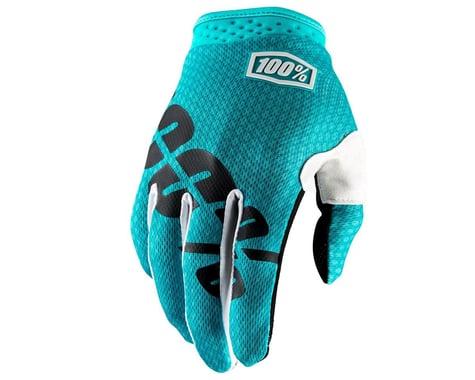100% iTrack Full Finger Glove (Teal)