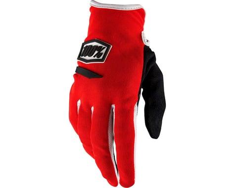 100% Ridecamp Women's Full Finger Glove (Red)