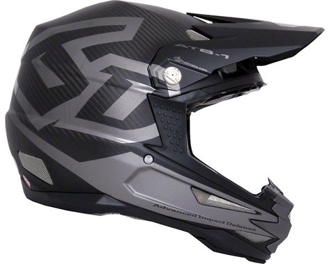 6D Helmets ATB-1 DH/BMX Carbon Macro Full Face Helmet (Black)