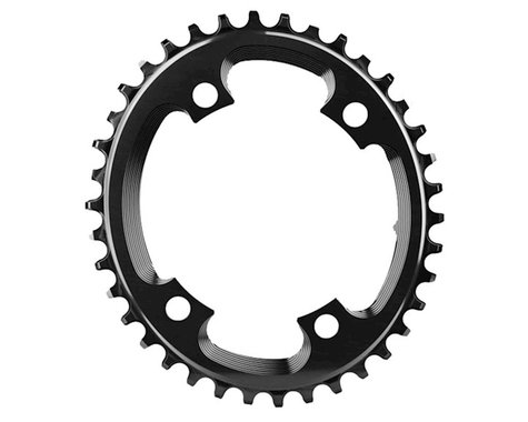 Absolute Black Asym CX Oval Chainring (Black) (110mm BCD)