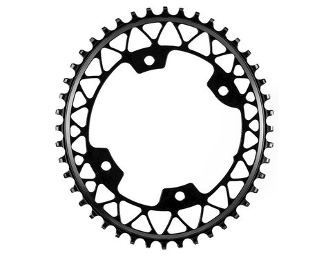 Absolute Black Asymmetric Gravel 1X Oval Chainring (Black) (110mm BCD) (1.5mm Offset) (46T)