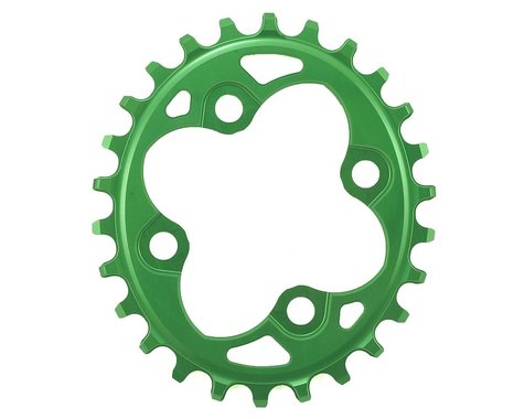 Absolute Black Oval Chainring (Green) (64mm BCD) (Offset N/A) (26T)
