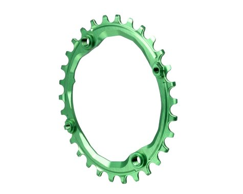 Absolute Black Oval Chainring (Green) (104mm BCD)