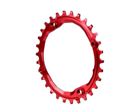 Absolute Black Oval Chainring (Red) (104mm BCD)