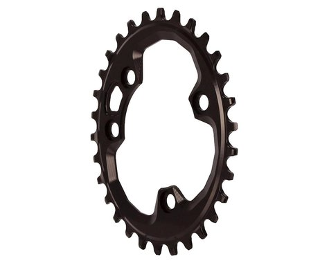 Absolute Black Oval Chainring (Black) (76mm BCD)