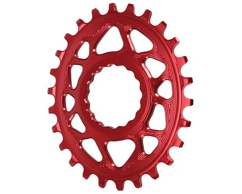 Absolute Black Direct Mount Race Face Cinch Oval Ring (Red) (6mm Offset) (26T)