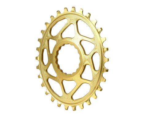 Absolute Black Direct Mount Race Face Cinch Oval Ring (Gold) (Boost) (3mm Offset (Boost)) (30T)