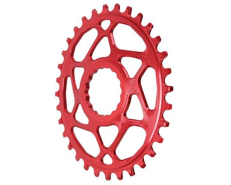 Absolute Black Direct Mount Race Face Cinch Oval Ring (Red) (Boost) (3mm Offset (Boost)) (32T)