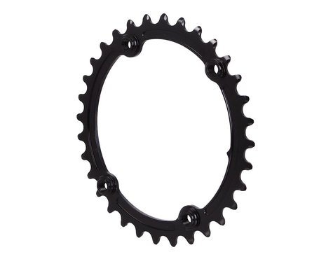 Absolute Black Premium Oval Subcompact Road Chainring (Black) (110mm BCD) (2.5mm Offset) (32T)