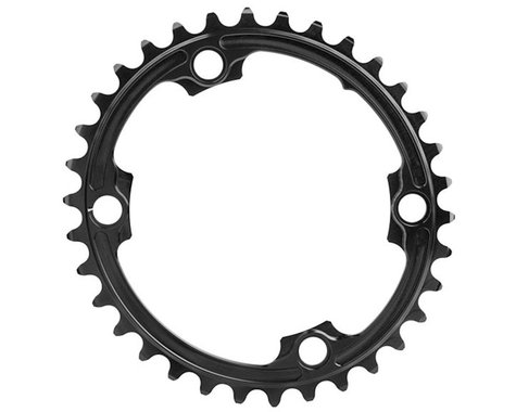 Absolute Black Premium 2x Oval Chainring (Black) (110mm BCD)