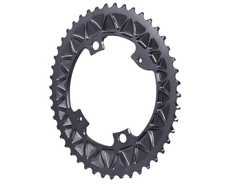 Absolute Black Premium Oval Subcompact Road Chainring (Grey) (110mm BCD)