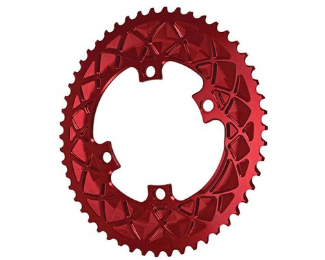 Absolute Black Premium 2x Oval Chainring (Red) (110mm BCD)